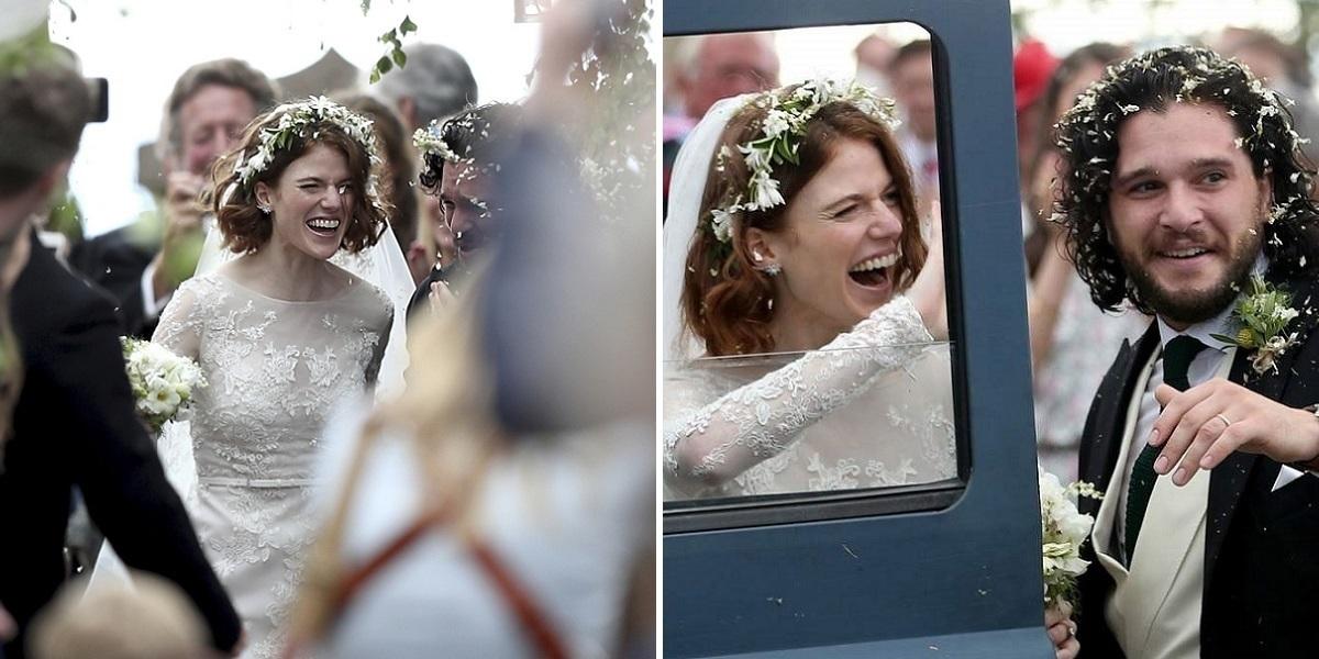 Böyle Olur Game of Thrones Düğünü: Rose Leslie ile Kit Harington, İskoçya'da Evlendi
